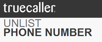 remove phone number from true caller
