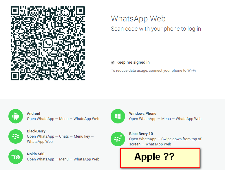whatsapp web problem