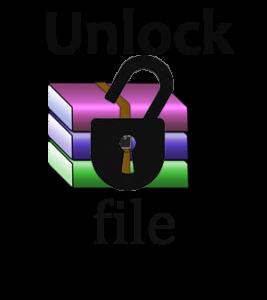 unlock rar file remove password