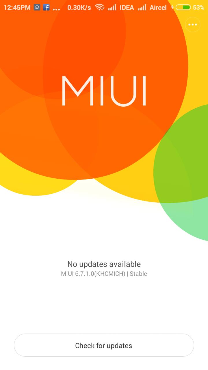 Xiaomi System update