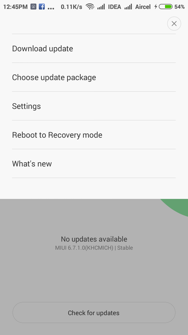 Xiaomi reboot to recovery option