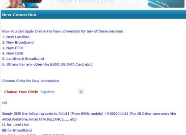 How to apply for BSNL Broadband and Landline Connection Online