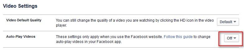 disable facebook video autoplay