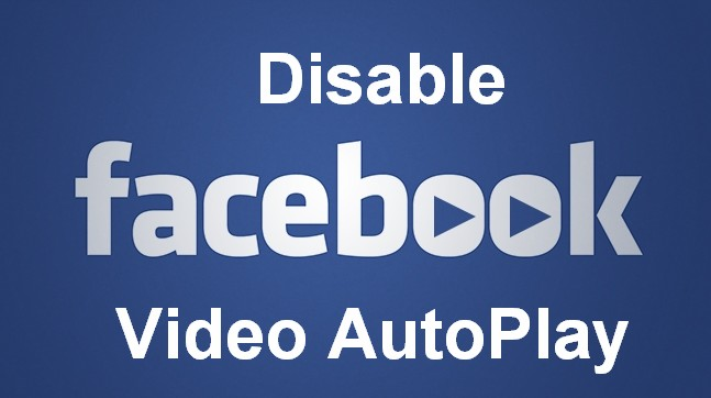 how to stop facebook video autoplay