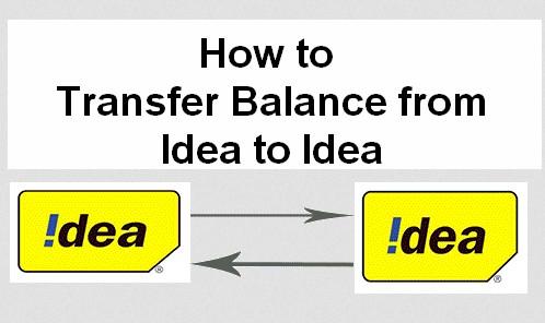 how to transfer balance from idea to idea
