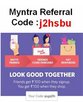 Myntra Referral Code to Get Rs 500 Myntra Cash September 2016 Refer & Earn Program | Shubham ...