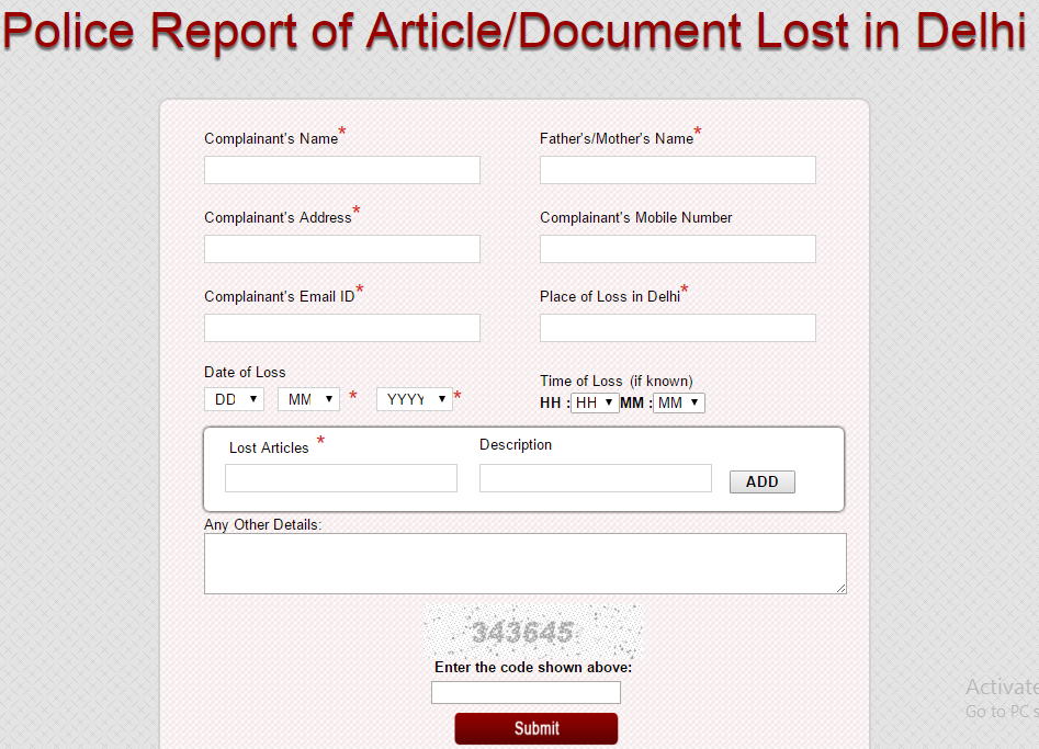 How To File Fir Online For Lost Documents Mobiles In India