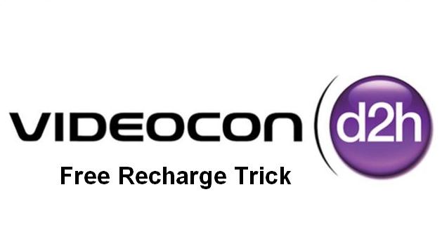 videocon d2h free recharge trick