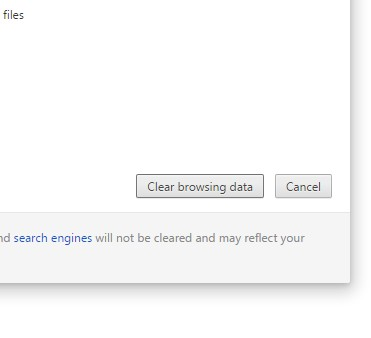 Clear browsing data and clear