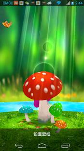 Mushrooms 3D Live Wallpapers