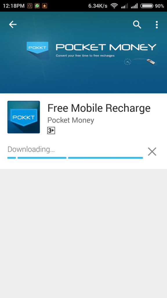 """Download the Pocket Money App. from here - """" Download Now """""""