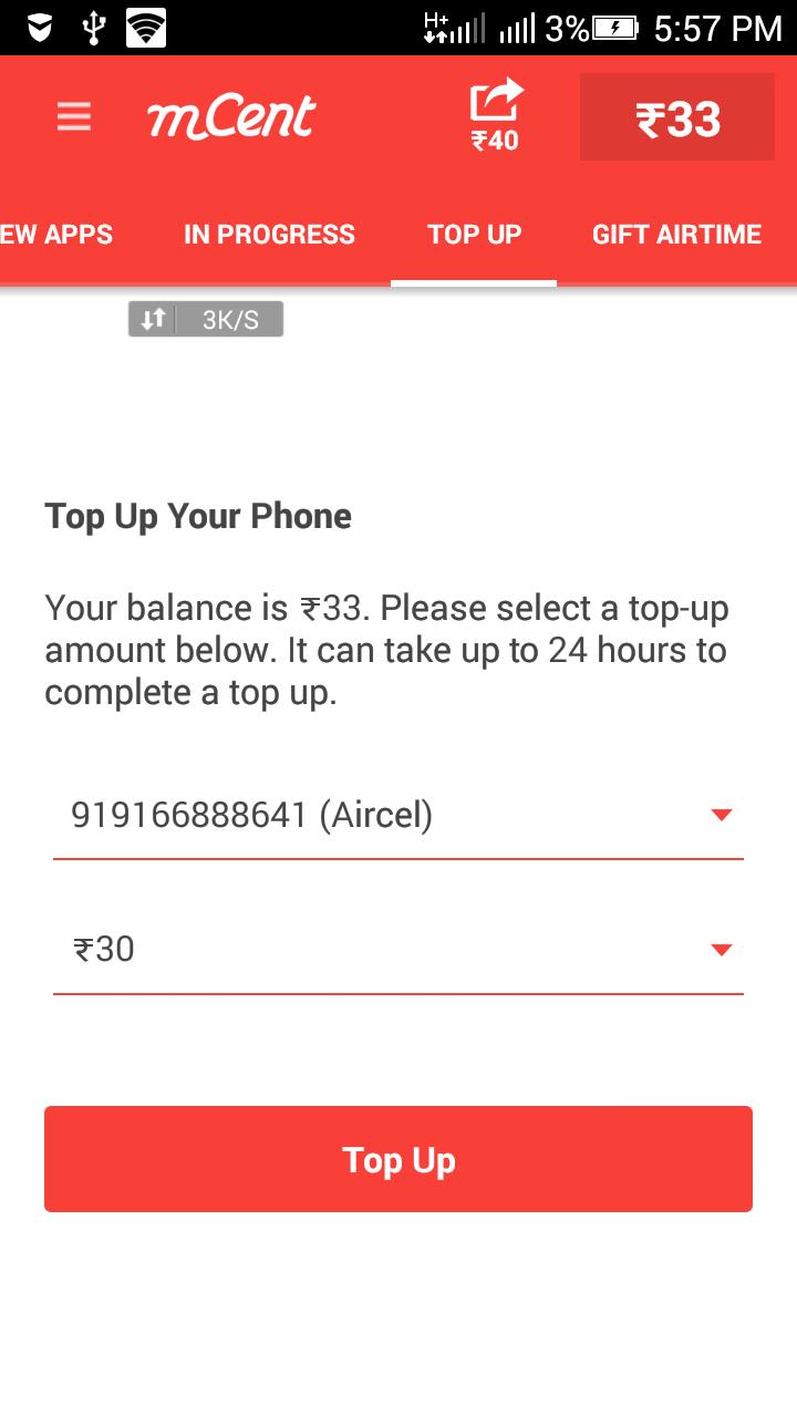 mcent free recharge topup
