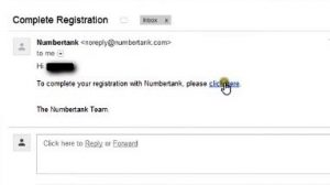 complete your registration by Gmail account to verify