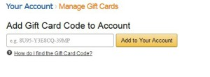 amazon gift card redeem