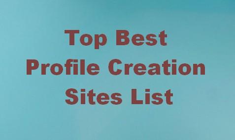 top best profile creation sites list