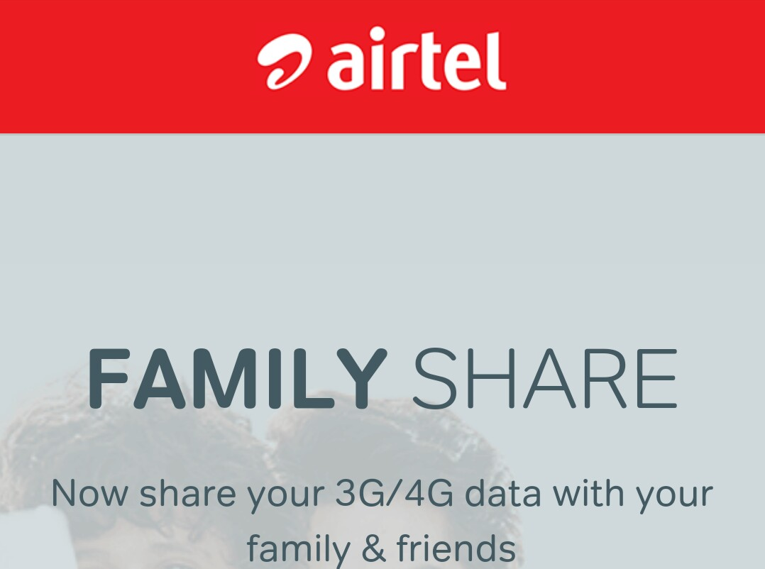 transfer airtel internet data