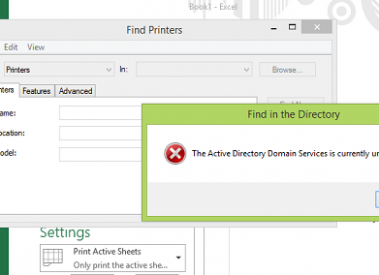 "[Solved]""The active directory domain services is currently unavailable"" Error"
