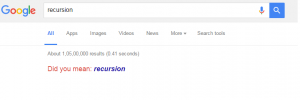 google recursion trick