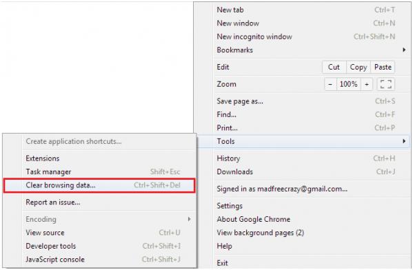 how to clear google chrome cache data on samsung android