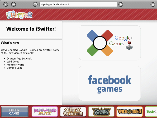 iSwifter Games Browser