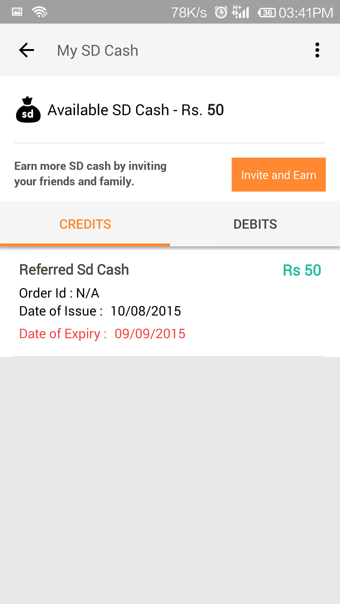 50 sd cash free