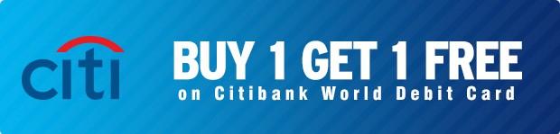 Citibank World Debit Card buy one get one free