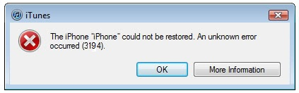 How to Fix Error 3194
