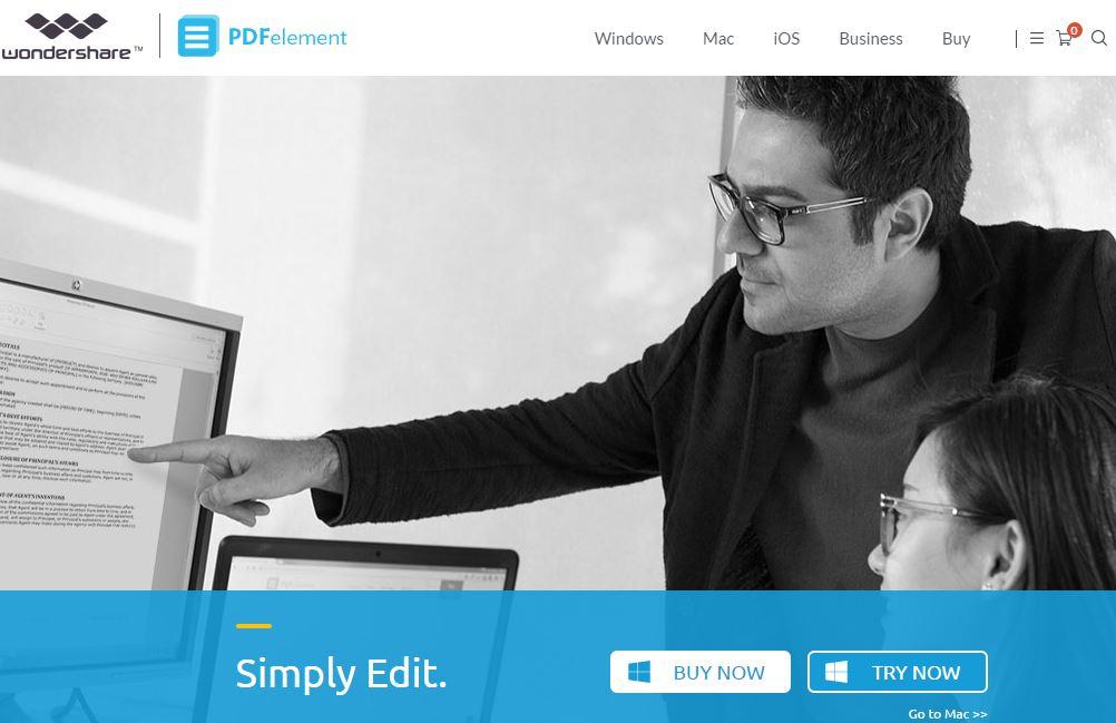 wondershare PDF editior