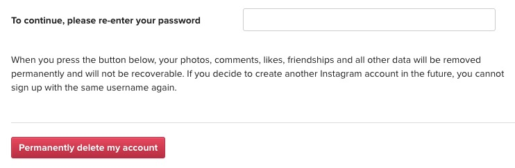 How to delete instagram account permanently and temporary ccuart Gallery