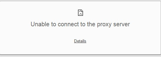unable-to-connect-to-proxy-server-error