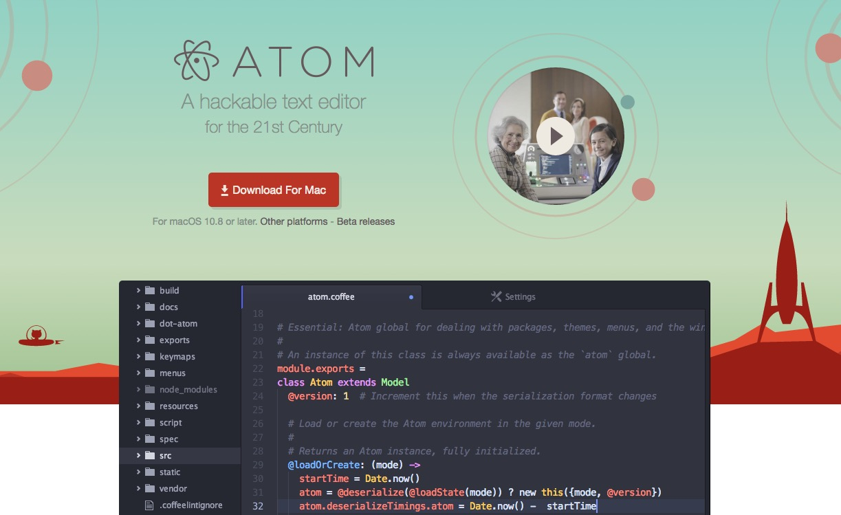 how to run c code in atom