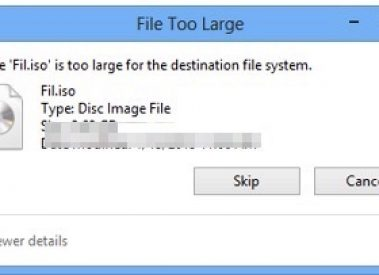 "How to Fix-""The file is too large for the destination file system"" Error"