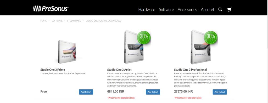 Studio One 3.0 audio recorder