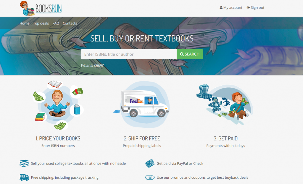 Want to Sell, Buy or Rent Textbooks online? Go to BooksRun
