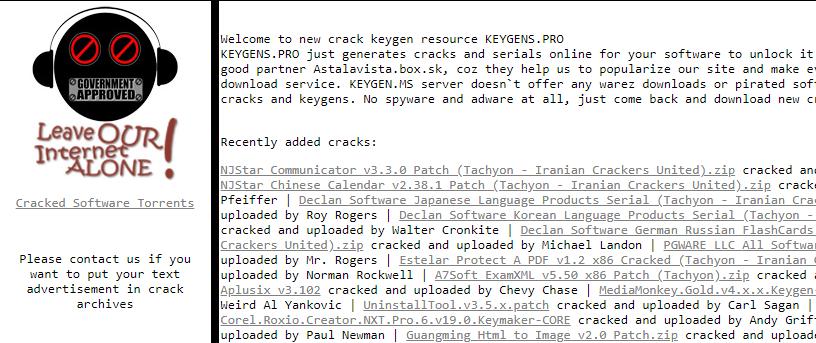free serial keys sites