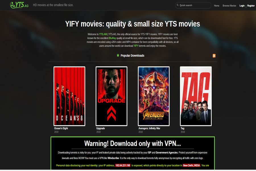 yify browse yts pro apk