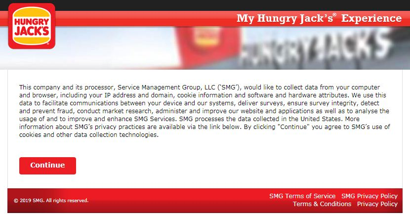 hungry jack's survey