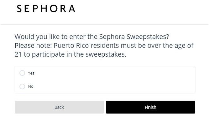 sephora survey